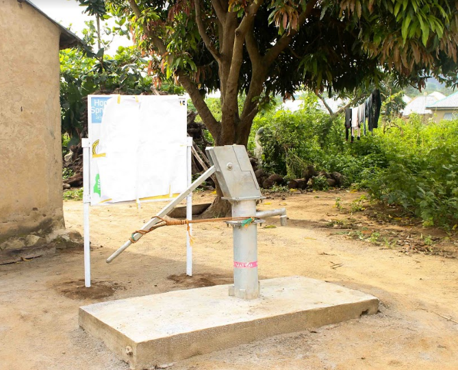 Corps Member Provides Zhidu Community Water Facility